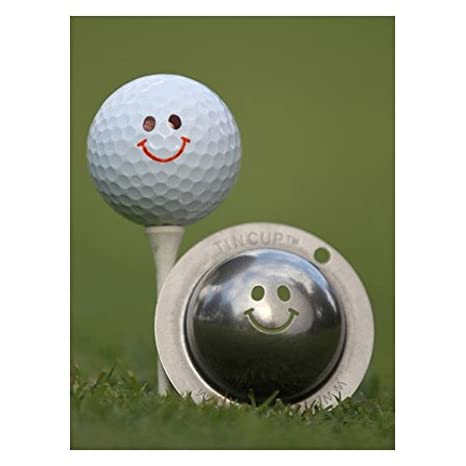 .com : tin cup groovy golf ball marking stencil, steel : golf ...