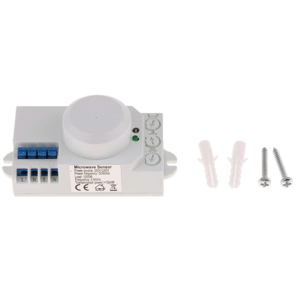 Microondas 360 Grados Radar Sensor de Movimiento Interruptor de Luz Cuerpo Detector de Movimiento - #1