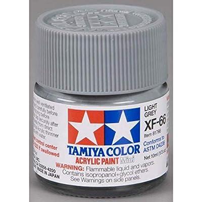 TAMIYA 81766 Acrylic Mini XF66 Light Gray 1/3 oz: Toys & Games