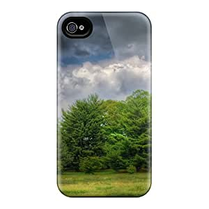 Iphone 4/4s Cover Case - Eco-friendly Packaging(gloomy Forest)