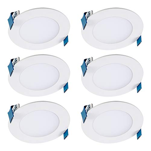 Halo HLB4069FS1EMWR-6PK HLB 4 in. Selectable CCT New Construction or Remodel Canless Kit(6 Pack) Recessed Integrated LED…