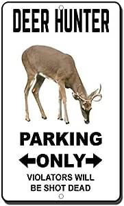 TAXIDERMY Aluminum Street Sign hunting mounts deer fisherman hunter Indoor//Outd