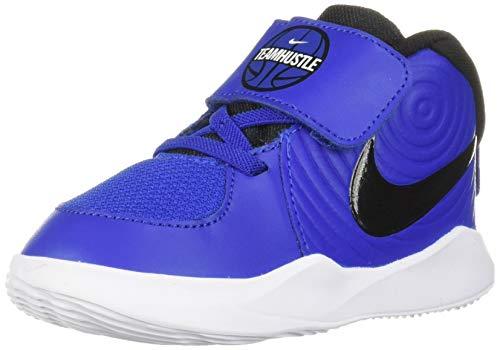 Nike Baby Team Hustle D 9 (TD) Sneaker, Game Royal/Black - White, 8C Regular US Toddler