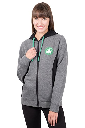 Ultra Game Adult Women Full Zip Hoodie Sweatshirt Dime Jacket, Charcoal, Large Celtic Full Zip Jacket