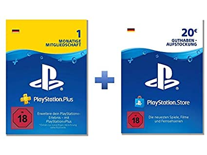 Ps Plus Karte.Playstation Plus Online Starter Pack Ps Plus 1 Monat Mit 20 Psn
