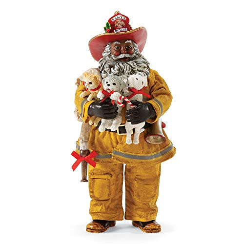 "Department 56 Santa to The Rescue by Possible Dreams Figurine, 10.5"", Multicolor"