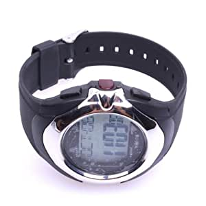Pulse Heart Rate Monitor Calories Counter Chronograph Fitness Watch