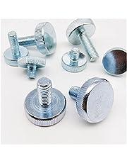 1/2/5pcs M3 M4 M5 M6 M8 M10 DIN653 GB835 Knurl Flat Head Hand Tighten Thumb Screw Curtain Wall Glass Thumbscrew