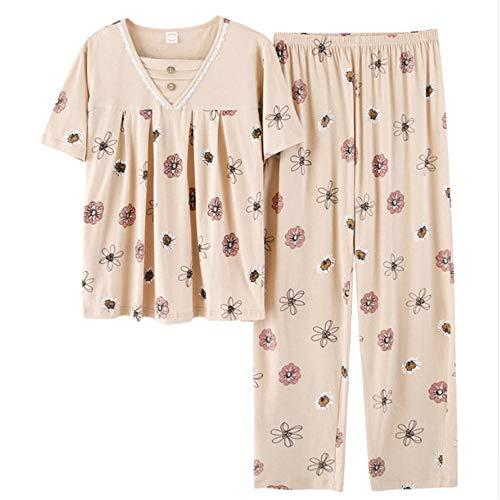 O Pigiama Corte Photo Meaeo Size Plus Color In Maniche nbsp;cotone Set nbsp; Notte Donna Pajams A Sleepwear collo Da nbsp; FqwxCOFZ6