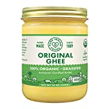 Grassfed Organic Original Ghee - by Pure Indian Foods, 14 oz, Pasture Raised, Gluten-Free, Non-GMO, Paleo, Keto-Friendly (16 fl oz / 1 pint)