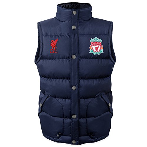 Liverpool FC Official Soccer Gift Mens Padded Body Warmer Gilet Medium by Liverpool F.C.