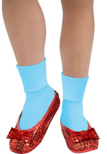 Dorothy Halloween Shoes (Rubie's Costume Wizard Of Oz Deluxe Adult Dorothy Sequin Shoe Covers, Red, One Size Fits Most)