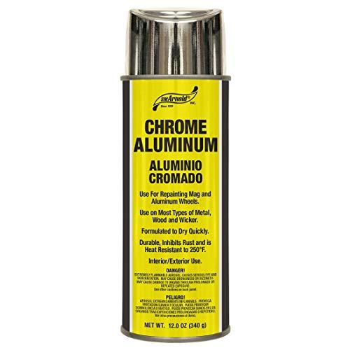 SM Arnold (66-106) Lacquer Spray Paint, Chrome Aluminum Lacquer - 12 oz.