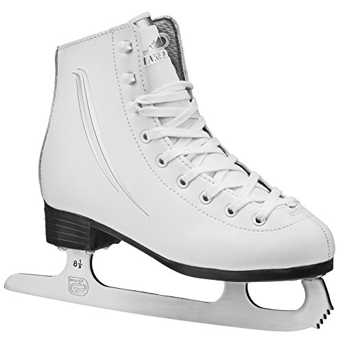 Lake Placid Cascade Girls Figure Ice Skate, White, Size Youth 12 - Girls Figure Skate Boots