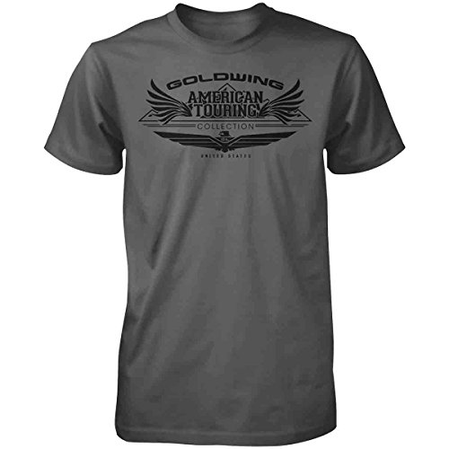 Honda Mens Goldwing Tour Collection Short-Sleeve T-Shirt, Charcoal, (Honda Goldwing T-shirts)