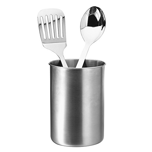 Stainless Steel Kitchen Utensil Holder / Tool Organizer Caddy, Rustproof and High Capacity to Hold Your Flatware/ Cutlery/ Cooking accessories, Metier Atelier Toolbar Series