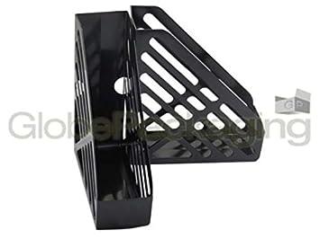 2 x de plástico de color negro baldas para archivadores para cuadernos o agendas para esbozar golpes de catálogos: Amazon.es: Oficina y papelería