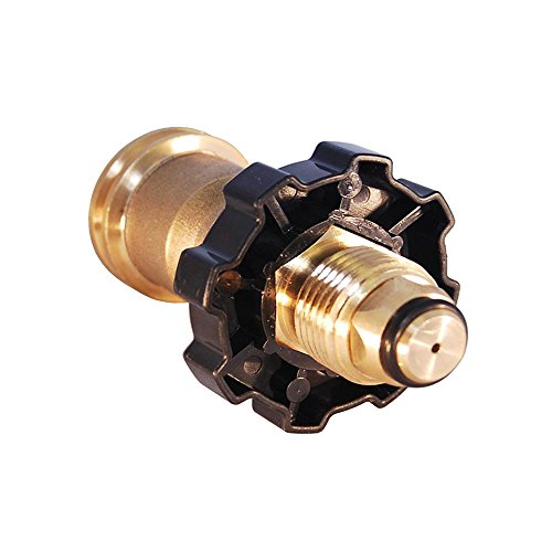 (KIBOW Universal Propane Tank Adapter for Old P.O.L Style to New Style/100% Solid Brass CSA Certified)
