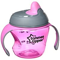 Tommee Tippee Closer To Nature First Sips Transition Cup, Pink, 5 Ounce, 1 Co...