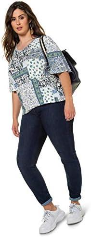 Ulla Popken 727297 koszulka damska, duże rozmiary: Ulla Popken: Odzież