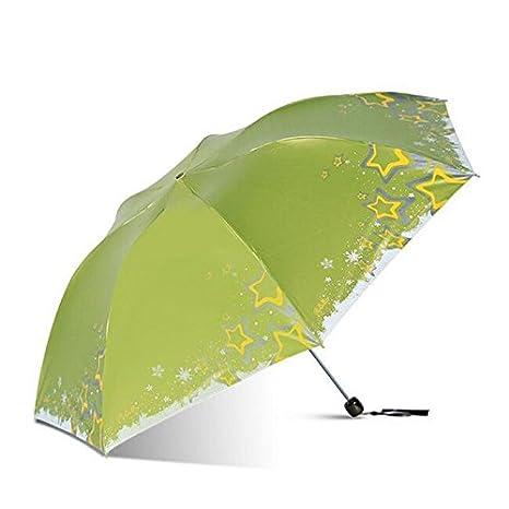 paraguas Ultra-ligero de las mujeres Lápiz Umbrella paraguas Sunscreen Parasol Anti-UV Twist