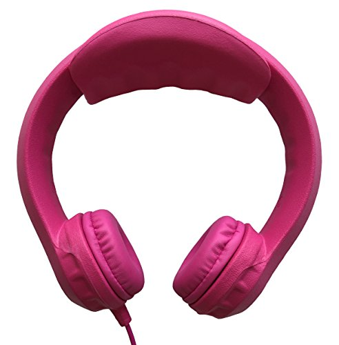 Kidrox Wired Kids Headphones | Volume Limited with Padded Cushions and Removable Size-adjuster | Safe for Children (Pink)