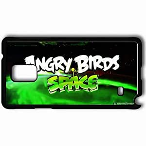 Personalized Samsung Note 4 Cell phone Case/Cover Skin Angry Birds Space Black