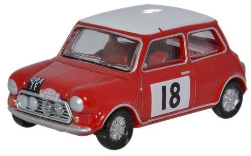 Oxford Diecast 1:76 Scale Mini Cooper S MkII 1968 Monte