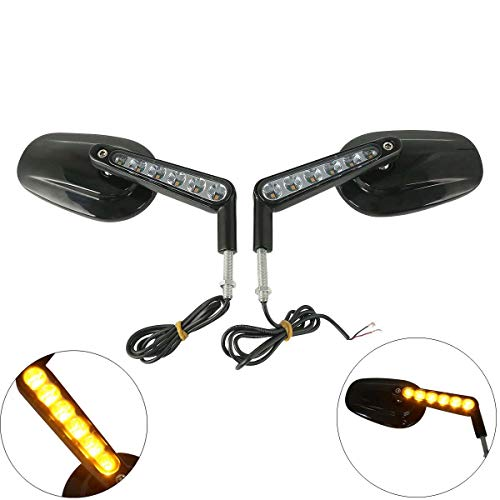 XFMT Muscle Rear View Mirrors LED Turn Signals Compatible for sale  Delivered anywhere in USA