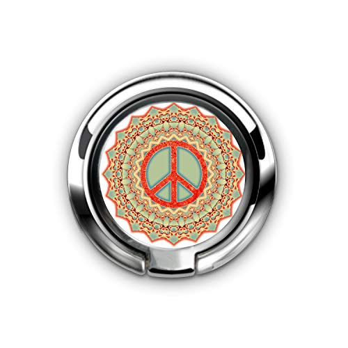 Phone Ring Holder Stand Universal Thin Finger Ring Grip 360¡ã Rotation Finger Ring Stand Holder Kickstand Compatible with iPhone X, iPhone 10 8 7 Plus(Lotus Flower Peace Mandala Red Ice Blue)