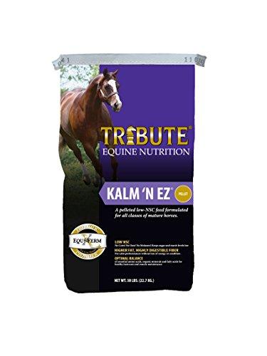(Kalmbach Feeds Tribute Kalm 'N Ez Pellets for Horse, 50 lb )