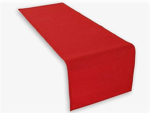 Lemos Home - Camino de Mesa de algodón, algodón, Rojo, 45 x 150 cm ...