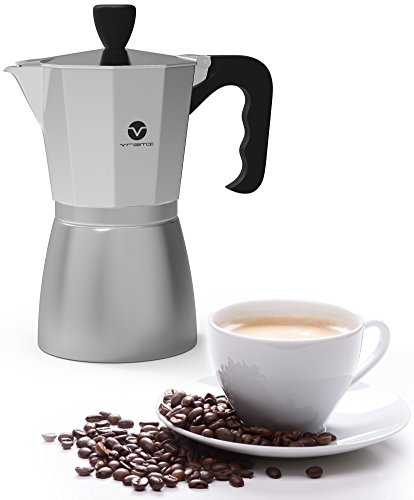 Vremi Stovetop Espresso Maker - Moka Pot Coffee Maker for Gas or Electric Stove Top - 6 Cups ...