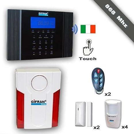 Kit antirrobo casa sin hilos 868 MHz GSM Sintesi Voz ...