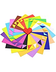 100 Sheets Origami Paper, 15 * 15cm 10 Vivid Colors Double Sides Square Handcrafts Paper Use for Fold Crane, DIY Decoration, Art Craft, Kids Art, Heart
