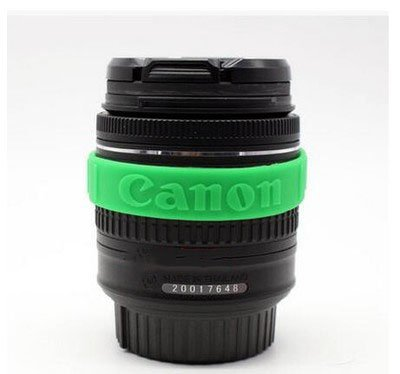 Focus Rubber Circle Ring Silicone Bracelet Wristbands Protective For Canon 58mm 62mm 67mm 72mm Camera Lens Filter Anti-slip (Green) ()