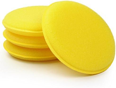 Sks Distribution 12 Stück Set Auto Wachs Schwamm Anti Scratch Gelb Auto Reinigungswerkzeug Autopflege Auto