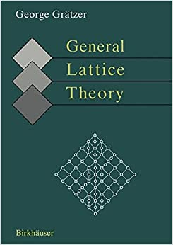 Book General Lattice Theory: Second edition