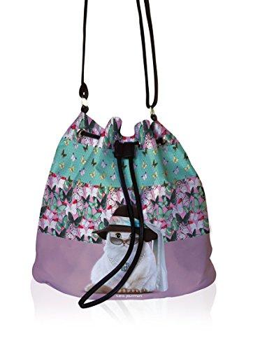 Teo Jasmin - Bolso de tela para mujer multicolor gris