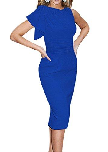 De Vestido Mujeres Verano Lápiz Vestido La Manga De Corta Vestido Enfadado Myroad De Salir Azul Noche wdtHd5