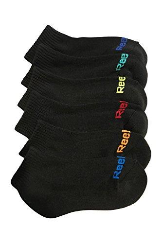 Reebok Boys 6 Pack Performance Quarter Cut Heel Toe Design Sock, Black Shoe 8.5-2 (Kids Reebok For Shoes)