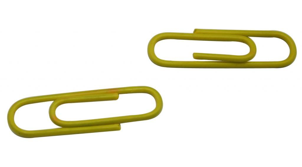 Ailisi Vinyl Coated Wire Paper Clips Color Yellow 1.1 X0.3 Pack of 200