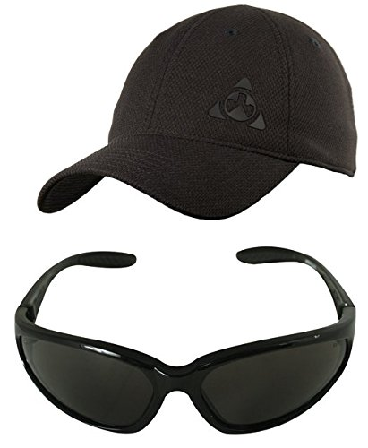 Magpul Core Cover Tactical Mesh Ballcap Hat Cap MAG729 Stealth Black, Large/XL X-Large + Ultimate Arms Gear Black Lens Military Sunglasses Eyeglass Shooting - With 400 Uv Sunglasses Logo Custom