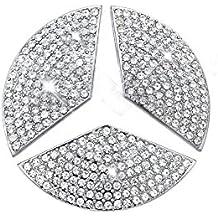 Car Steering Wheel Decorative Stickers For Mercedes-Benz NEW C E CLA GLC GLE GLA Class(Diameter 48mm)