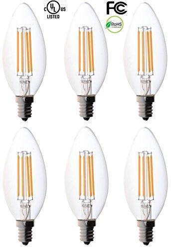Bioluz Filament Candelabra LED Efficiency