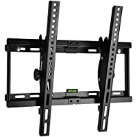 Happyjoy ±15° Tilting TV Wall Mount Bracket for 23-55 Inch Samsung Sony LG VIZIO Sharp LED/LCD/Plasma TVs Max VESA 400mmx400mm,165lbs Capacity Super Strong with Bubble Level Included