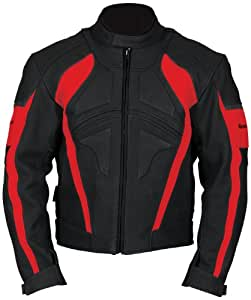 Milano Sport Estoril Motorcycle Leather Jacket (Black, Size 46)