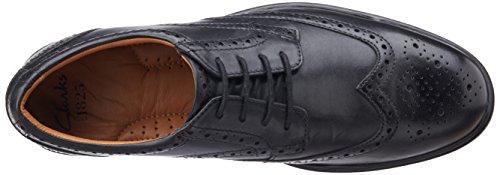 Clarks  Gabson Limit, Chaussures de ville à lacets pour homme, Noir (Cuir noirci_44), 42 EU (8 Homme UK)