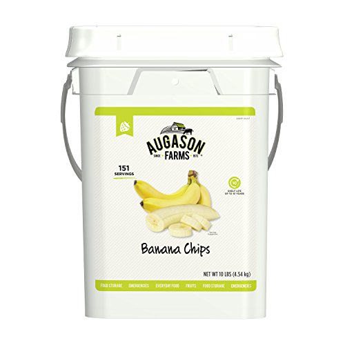 Farm Chip - Augason Farms Banana Chips Certified Gluten Free Emergency Bulk Food Storage 4 Gallon Pail 151 Servings