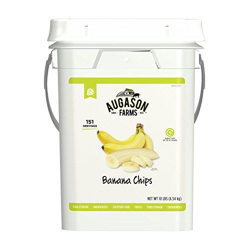 Augason Farms Banana Chips Certified Gluten Free Emergency Bulk Food Storage 4 Gallon Pail 151 Servings ()